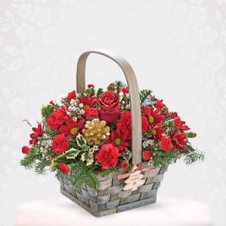 Beautiful Red Roses Basket Online Delivery in Mumbai