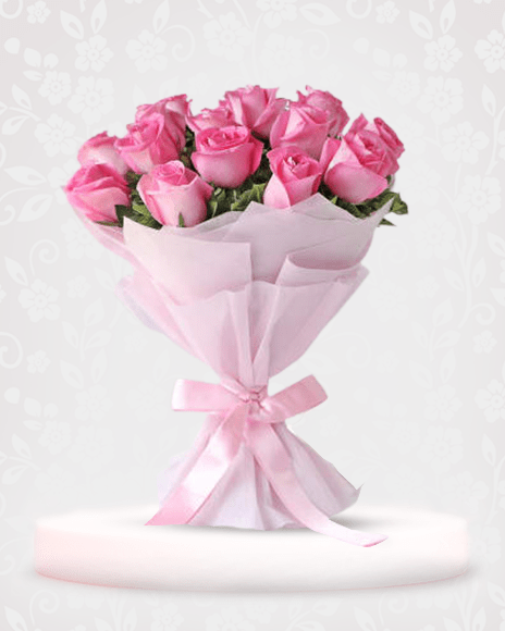 Pink Roses bouquet online - online bouquet delivery in mumbai
