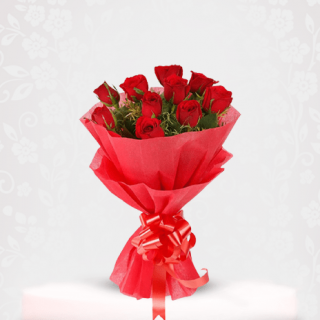 Fresh Red Roses Bouquet Online - bouquet of roses near me
