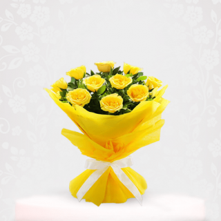 Bunch of Fresh Yellow Roses Bouquet - bouquet of roses near me